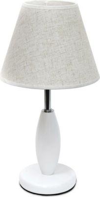 relaxdays Tischlampe Weiß Materialmix