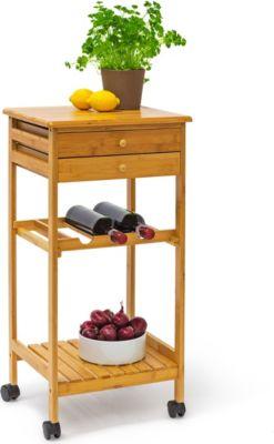 relaxdays Küchenrollwagen JAMES M Flaschenregal | Küche und Esszimmer > Küchenregale > Küchen-Standregale | relaxdays