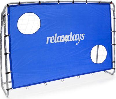 relaxdays  Fußballtor mit Torwand blau