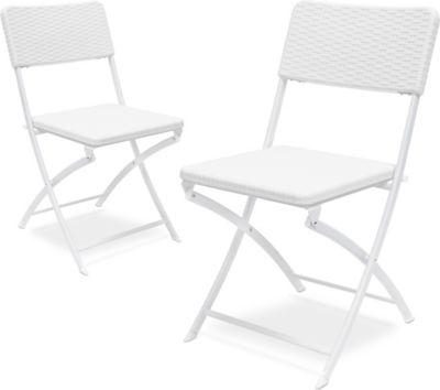 relaxdays Klappstuhl BASTIAN   Küche und Esszimmer > Stühle und Hocker > Klappstühle   Kunststoff - Rattan   relaxdays