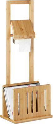 relaxdays Toilettenpapierhalter Zeitungsständer