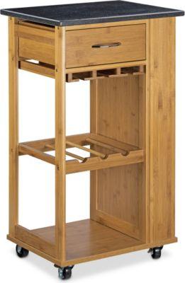 relaxdays Küchenwagen ALFRED L mit Weinregal   Küche und Esszimmer > Küchenregale > Küchen-Standregale   relaxdays