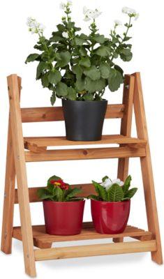 relaxdays Blumentreppe aus Holz | Baumarkt > Leitern und Treppen > Treppen | relaxdays