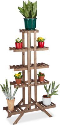 relaxdays Blumentreppe 5 Ebenen | Baumarkt > Leitern und Treppen > Treppen | relaxdays
