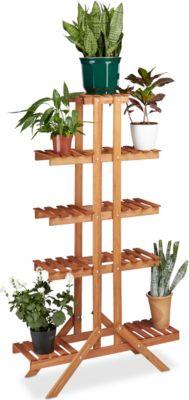 relaxdays Blumentreppe 5 Ebenen   Baumarkt > Leitern und Treppen > Treppen   relaxdays