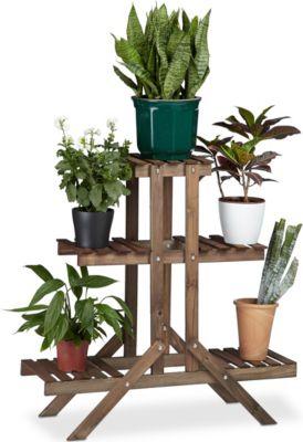 relaxdays Blumentreppe 3 Ebenen | Baumarkt > Leitern und Treppen > Treppen | relaxdays