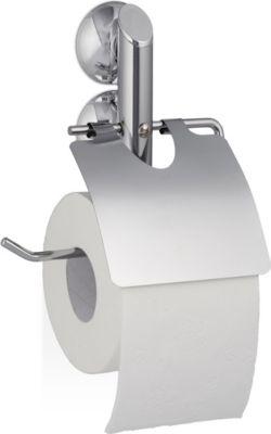 relaxdays Toilettenpapierhalter Saugnapf KNUTSCHI