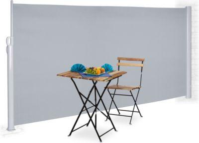 relaxdays Seitenmarkise ausziehbar 180 x 300 cm | Garten > Balkon > Sichtschutz | relaxdays