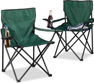 relaxdays Campingstuhl 2er-Set | Baumarkt > Camping und Zubehör > Campingmöbel | relaxdays