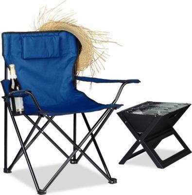 relaxdays Campingstuhl mit Rückenpolster | Baumarkt > Camping und Zubehör > Campingmöbel | relaxdays