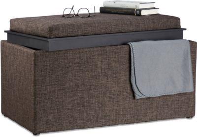 relaxdays Sitztruhe mit Stauraum | Küche und Esszimmer > Sitzbänke > Sitztruhen | relaxdays
