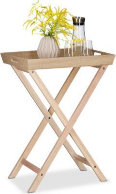 relaxdays Tabletttisch Holz zum Klappen | Wohnzimmer > Tische > Weitere Tische | relaxdays