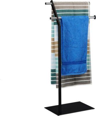 relaxdays Handtuchhalter freistehend Chrom