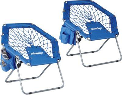 relaxdays 2x Bungee Stuhl Trampolinstuhl elasti...