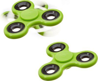 relaxdays-2x-fidget-spinner-stress-reducer-handkreisel-spielzeug-fidget-toy-58-g-grun, 6.90 EUR @ plus-de
