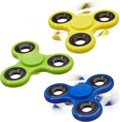 relaxdays 3x Fidget Spinner Tri-Bar 58g Finger ...