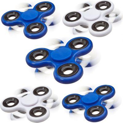 relaxdays-5x-fidget-spinner-fidget-toy-58-g-stress-reducer-handkreisel-spielzeug-blau-wei-