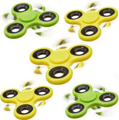 relaxdays-5x-fidget-spinner-handkreisel-spielzeug-fidget-toy-58-g-stress-reducer-grun-gelb