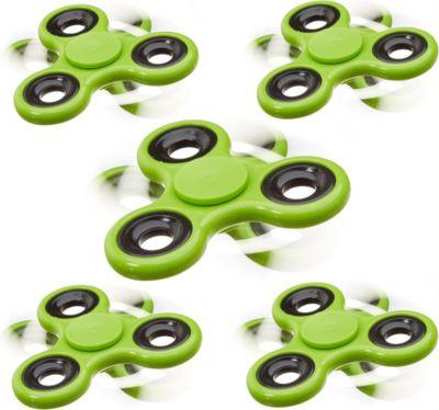 relaxdays-5x-fidget-spinner-stress-reducer-handkreisel-spielzeug-fidget-toy-58-g-grun