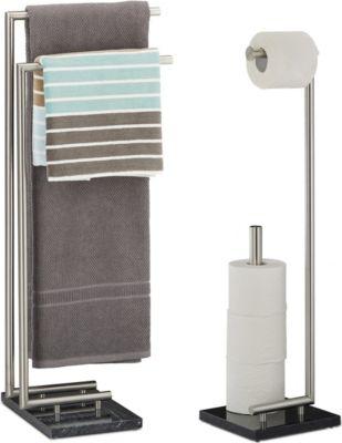 relaxdays 2 tlg. Badezimmer Set PIERRE Handtuch...