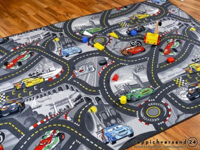 kinder-spielteppich-disney-cars-grau-in-24-133x133-cm