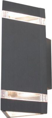Wandleuchte Big UpDown 2 GU10 2x50W IP54 dunkelgrau 10656