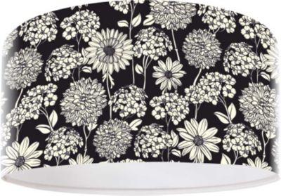 Pendelleuchte FotoLume Flower black & white Ø 40 cm 10744