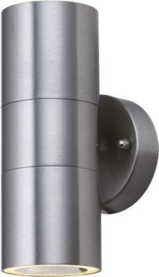 Effektleuchte Wandleuchte UPDown Round silver 2xGU10 IP44 10103
