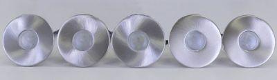 LED Einbaustrahler, 5er Set, IP44, 5cm DM, rund, warmweiß, 10250 | Lampen > Strahler und Systeme > Einbaustrahler | KIOM