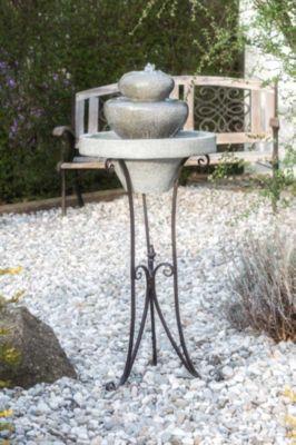 KIOM Brunnen Gartenbrunnen auf Metallgestell FoScalino 100x42cm 10747
