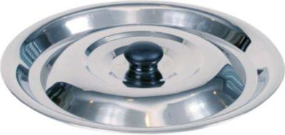 Deckel für Kessel, verschiedene Größen von 6-20 L, edelstahl, schwarz Deckel, Edelstahl, 37cm/10 Liter