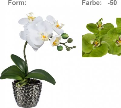 orchidee-phalaenopsis-kunstpflanze-im-silbernen-keramiktopf, 21.76 EUR @ plus-de