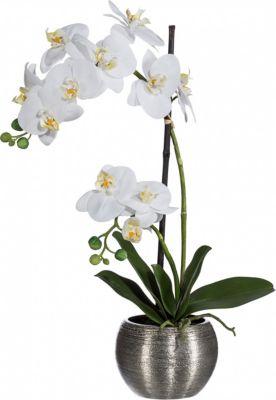 orchidee-phalaenopsis-kunstpflanze-im-silbernen-kugeltopf