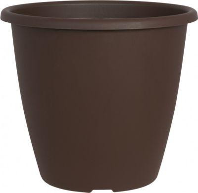Pflanzkübel NEVADA rund aus... braun, 35 cm | Dekoration > Dekopflanzen > Pflanzenkübel | Kunststoff | Geli