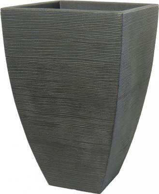 Pflanzkübel Rillentopf quadratisch hoch aus... anthrazit | Dekoration > Dekopflanzen > Pflanzenkübel | Kunststoff | Geli
