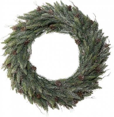 kunstlicher-tannenkranz-zur-weihnachtlichen-dekoration