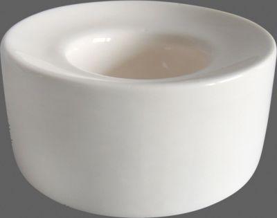 Porzellan Teelicht Umag Rund Aus Porzellan Weiß 8,5 Cm