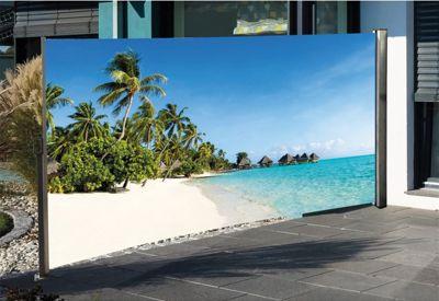HTI-Living Seitenmarkise mit Fotodruck Südsee | Garten > Balkon > Sichtschutz | HTI-Living