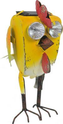 HTI-Line Gartenfigur Deko mit Solar Crazy Chick | Garten > Dekoration > Dekofiguren | HTI-Line