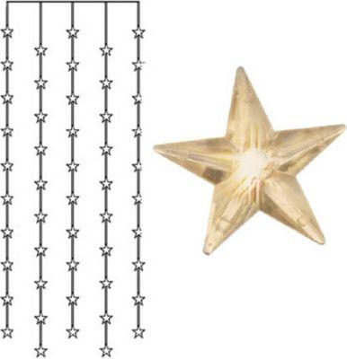 IOVIVO LED-Lichtervorhang mit Sternen, warm white