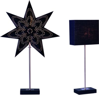 IOVIVO Standleuchte aus Metall mit 2 wechselbaren Lampenschirmen
