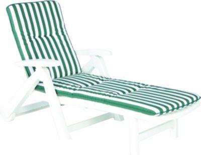 best freizeitmöbel Rollliege weiß aus Kunststof...