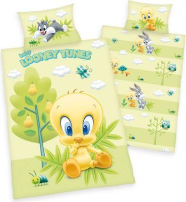 herdings-young-collection-renforce-baby-bettwasche-2-tlg-looney-tunes-40x60-100x135-cm