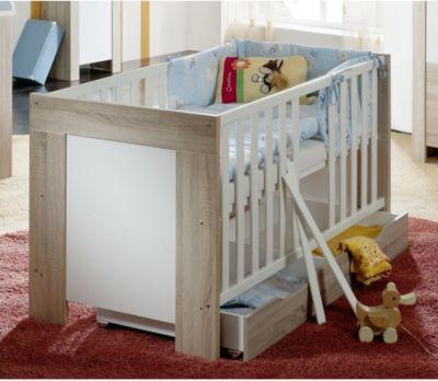Babybett Elia | Kinderzimmer > Babymöbel > Babybetten & Babywiegen | Eiche - Nachbildung - Sägerau | Sonstiges