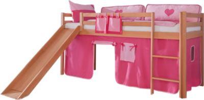 relita-hochbett-toby-buche-massiv-mit-rutsche-stoffset-pink-rosa