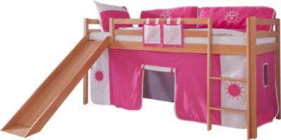 relita-hochbett-toby-buche-massiv-mit-rutsche-stoffset-pink-wei
