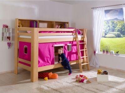Etagenbett Pink : Etagenbett sky kinderbett mit rutsche spielbett bett natur