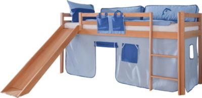 relita-hochbett-toby-buche-massiv-mit-rutsche-stoffset-blau-delfin
