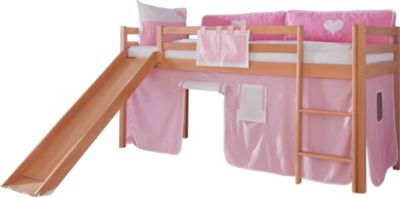 relita-hochbett-toby-buche-massiv-mit-rutsche-stoffset-rosa-wei