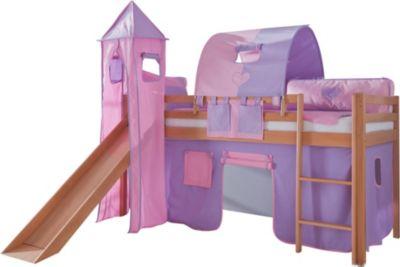 relita-hochbett-toby-buche-massiv-mit-rutsche-turm-stoff-purp-rosa